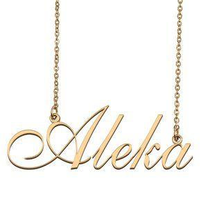 Custom Personalized Aleka Name Necklace